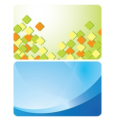 green and blue cards with abstractions - set vector image