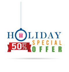 holiday special offer sale icon design in colorful vector image vector image