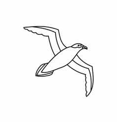 Seagull icon outline style vector image vector image
