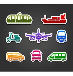 Set of stickers transport color signs vector image vector image