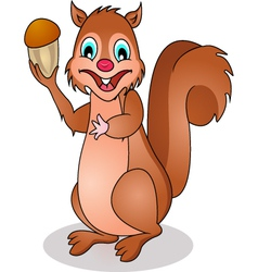 squirrel cartoon vector image vector image