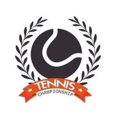 tennis championship ball label design vector image vector image
