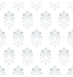white damask pattern vector image vector image