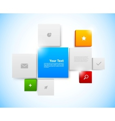 Design of tiled interface vector image