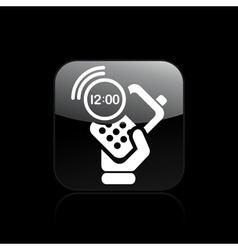 phone clock icon vector image vector image
