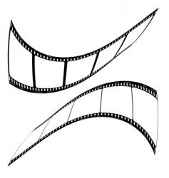 photo film strip mirror vector image vector image