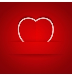 Valentines day background with pocket vector image