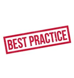 Best Practice rubber stamp vector image