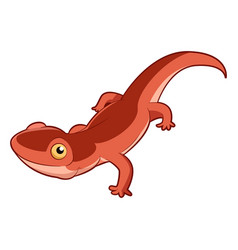 cartoon smiling newt vector image