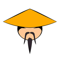 chinese man icon cartoon vector image vector image