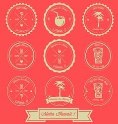 Hawaii Holiday Vintage Label Design vector image vector image