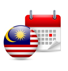 Icon of National Day in Malaysia vector image