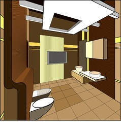 interior of bathroom vector image