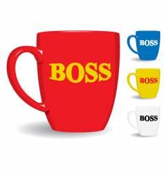 mug for big boss fun vector image