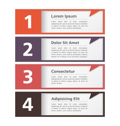 Design Template with Four Elements vector image