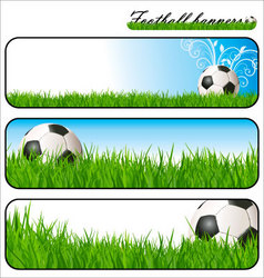 football banners vector image vector image