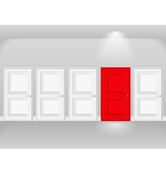 Red Door vector image vector image