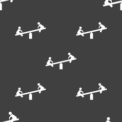 swing icon sign Seamless pattern on a gray vector image vector image