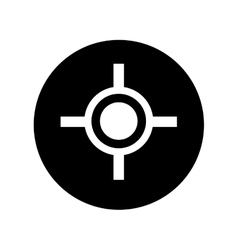 target gun isolated icon vector image