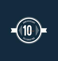 10 years anniversary celebrations retro circle vector
