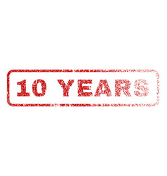 10 years rubber stamp vector