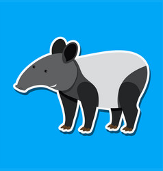a tapir sticker character vector image