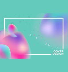 abstract cover design template vector image