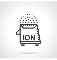 Air ionizer black line icon vector image