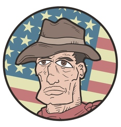 American western expression vector image