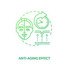 Anti aging effect dark green concept icon vector