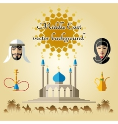 Arab background vector image