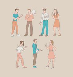 Arguing people set vector