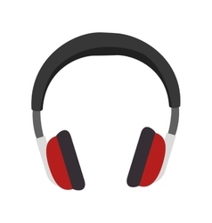 audio portable headphone vector image
