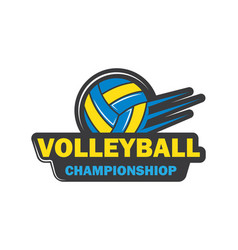 Badge and logo volley ball club icon vector