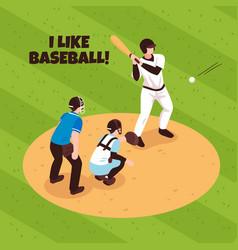 baseball isometric vector image