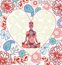 beautiful background love yoga vector image
