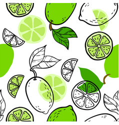 beautiful green black and white seamless doodle vector image