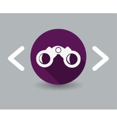 Binoculars icon vector
