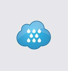 Blue cloud rain icon vector