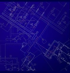 Boiler room technical drawings heater engineering vector