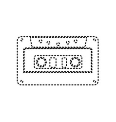 cassette icon audio tape sign black vector image