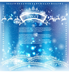 Christmas background and Merry Christmas lettering vector image