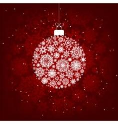 Christmas snowflake ball vector