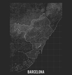 city map barcelona elevation map of vector image