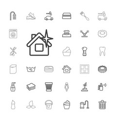 Clean icons vector