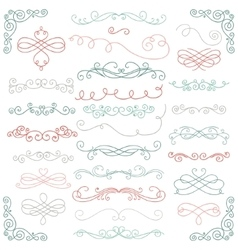 Colorful Doodle Hand Drawn Swirls vector