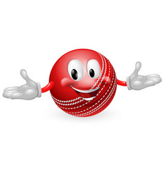 Cricket ball mascot vector