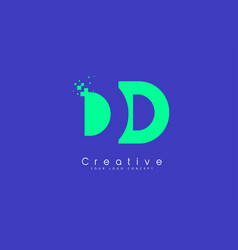 Dd letter logo design with negative space concept vector