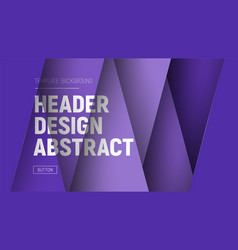 Design site header with purple layers and text at vector