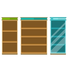 Empty retail store shelf shot vector